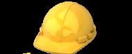 Cascheta de protectie utilizata de lucratorii in constructii si de lucratorii de la firma de termopane