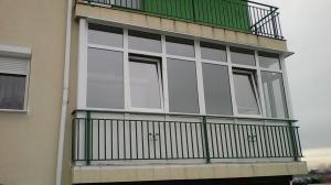 balcon din termopan la bloc